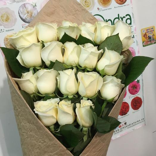 Букет белых роз))): букеты цветов на заказ Flowwow