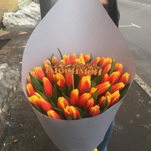 Букет тюльпанов для любимой: букеты цветов на заказ Flowwow