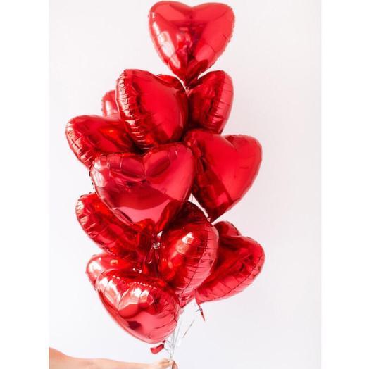 Фонтан из 11 шаров сердец