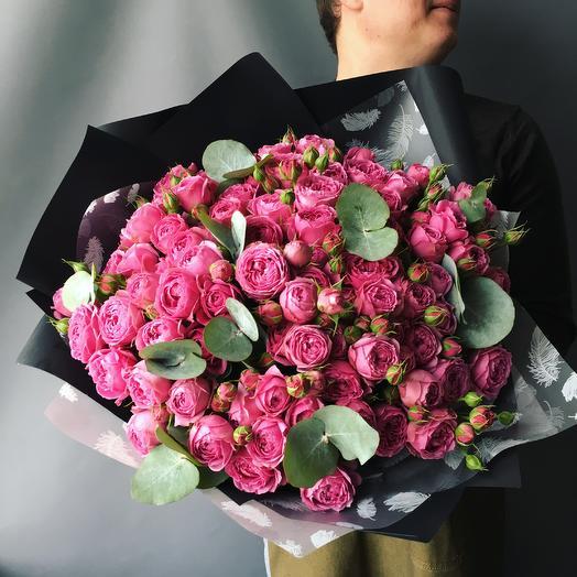 Кустовые пионовидные розы: букеты цветов на заказ Flowwow