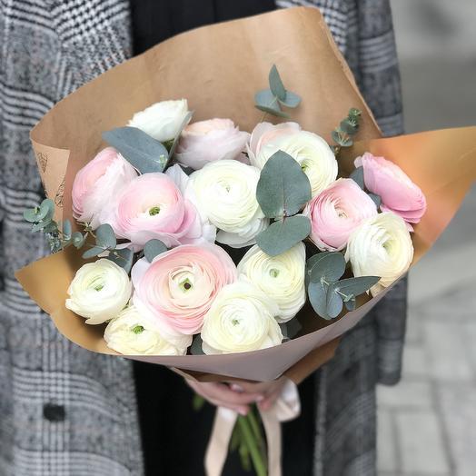 Шикарные ранункулюсы по супер цене: букеты цветов на заказ Flowwow