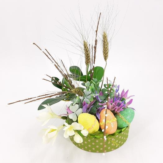 Интерьерная композиция пасхальная: букеты цветов на заказ Flowwow