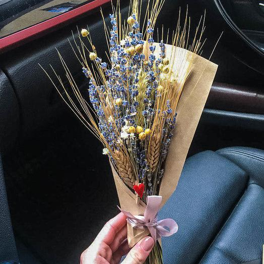 A bouquet of lavender and ears