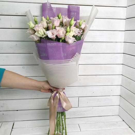 Букет из эустомы 11 шт: букеты цветов на заказ Flowwow