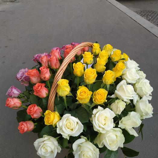51 микс в корзине: букеты цветов на заказ Flowwow
