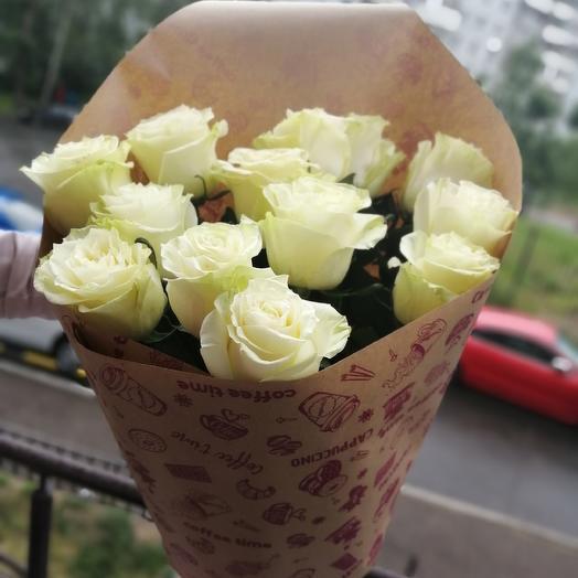 13 белых роз