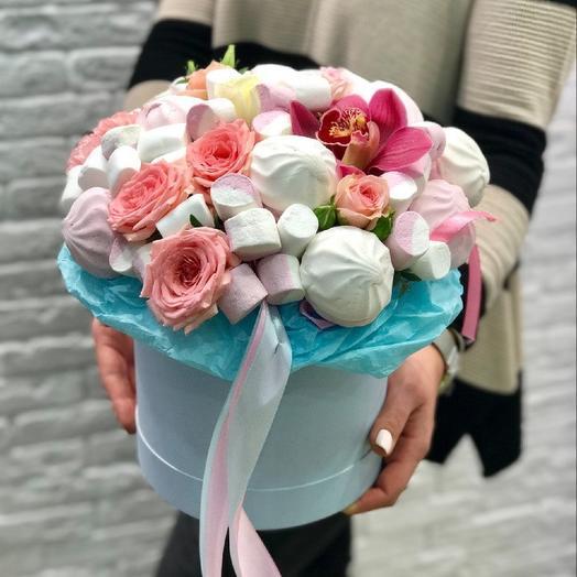 Зефирное счастье: букеты цветов на заказ Flowwow