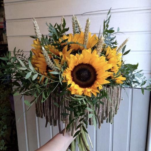 «Солнечный круг»: букеты цветов на заказ Flowwow