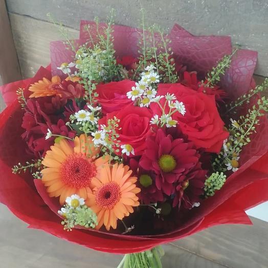 Букет «Пламя любви»: букеты цветов на заказ Flowwow