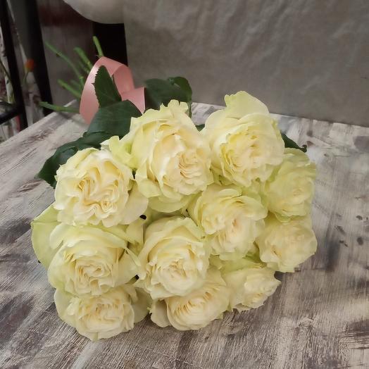 Роза Мондиаль 11 штук: букеты цветов на заказ Flowwow