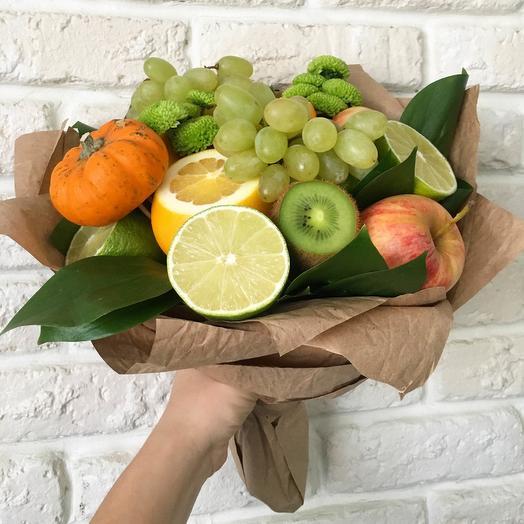 """Букет из фруктов """"Осенний"""": букеты цветов на заказ Flowwow"""