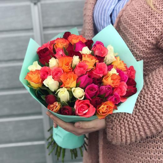 Микс из Кенийской розы: букеты цветов на заказ Flowwow