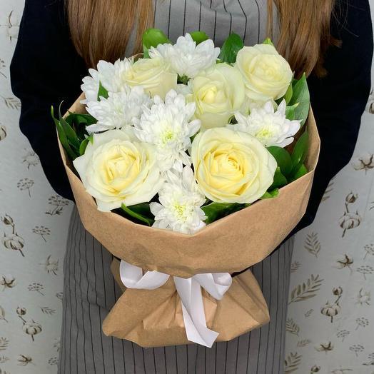 """Букет из цветов """"Белоснежка"""""""