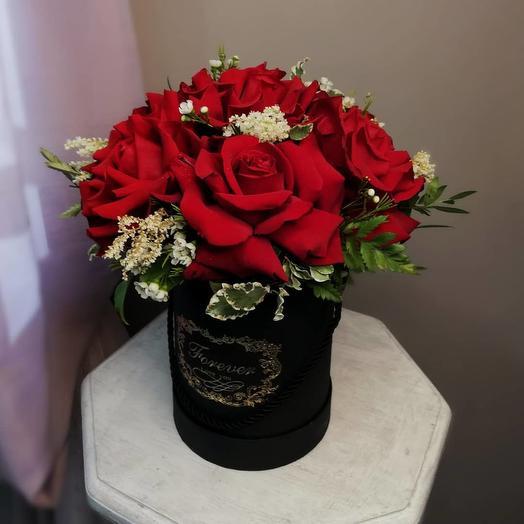 Коробка из роз облачка: букеты цветов на заказ Flowwow