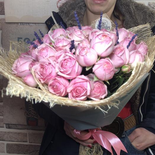 Мисти Балс с Лавандой: букеты цветов на заказ Flowwow