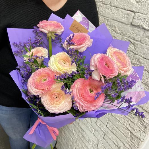 Шикарные ранункулюсы для самой любимой: букеты цветов на заказ Flowwow