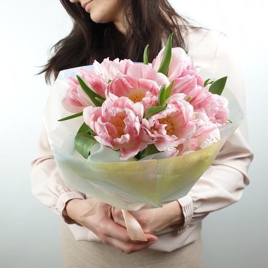 Нежный букет из тюльпанов: букеты цветов на заказ Flowwow