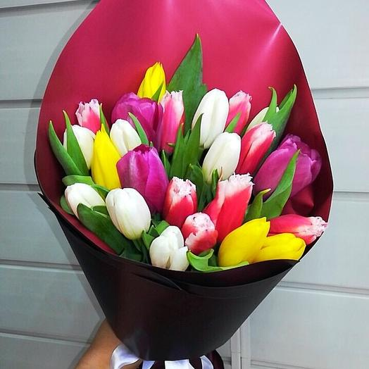 23 тюльпана в оформлении