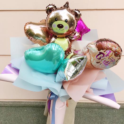 Букет из воздушных шаров «Мишка»: букеты цветов на заказ Flowwow