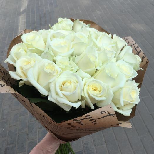 21 white roses