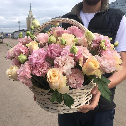 Корзина с розами 1