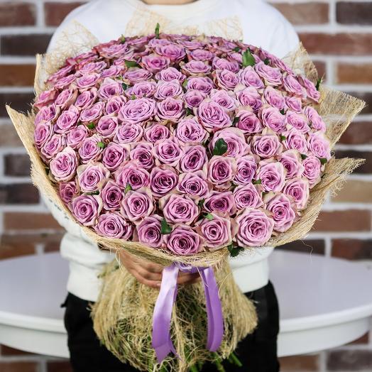 Букет из 101 сиреневой розы. N852