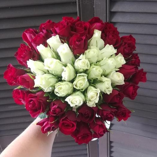 "51 роза 40см ""Сердце"""
