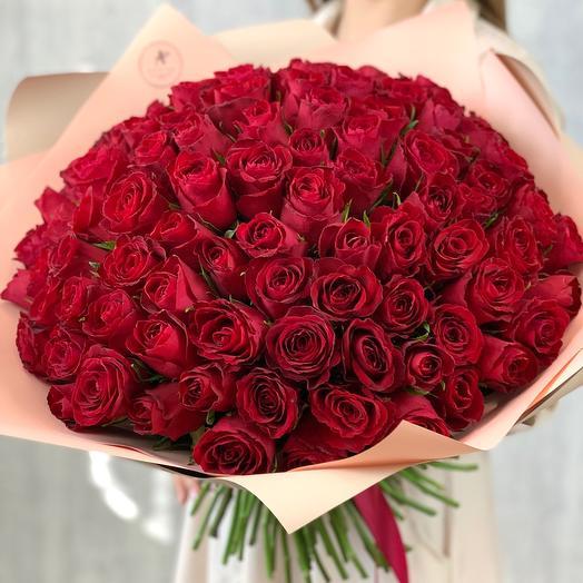Букет из 101 розы (Кения)