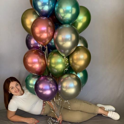 Фонтан из 25 шаров