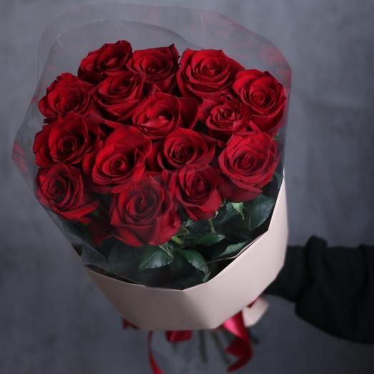 Премиум розы Эквадор 15 шт в упаковке