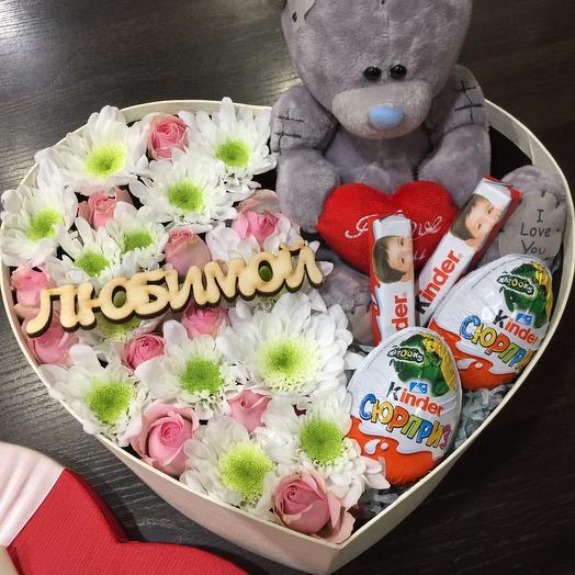 Цветы в коробке 00045711