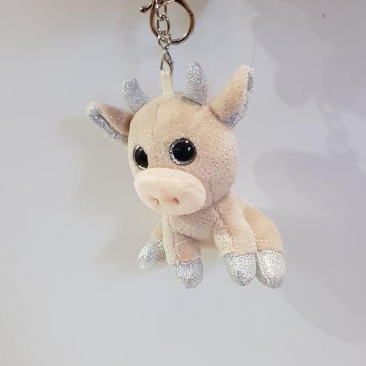 Мягкая игрушка брелок Бычок