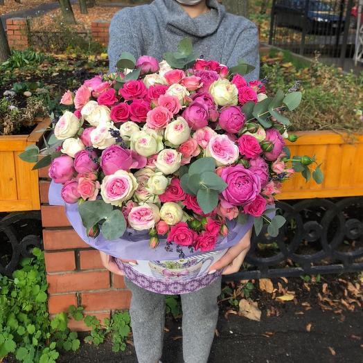 Цветы в коробке «парижанка»