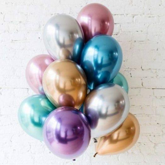 Сет из 10 хромированых шаров
