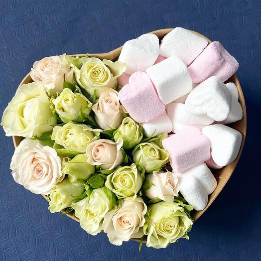 Heart with marshmallows