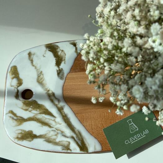 Сервировочная доска «Белый мрамор»