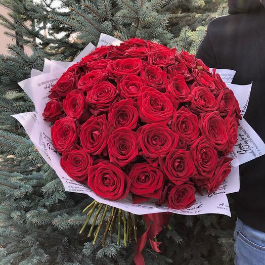 Flowers Lovers - 51 красная роза