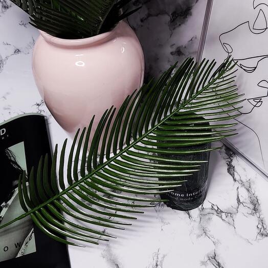 Листья пальмы для декора и интерьера, 47см, 10шт
