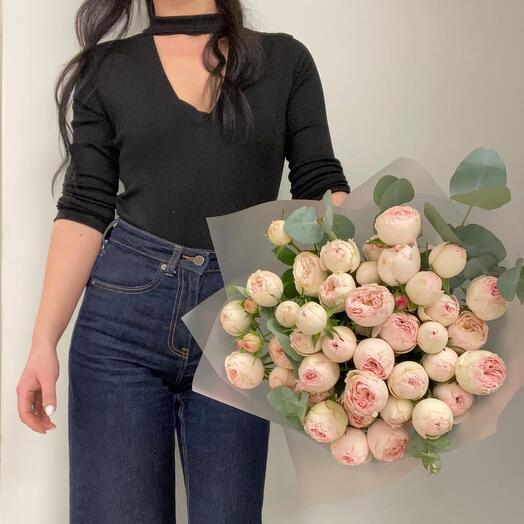 Роза пионовидная кустовая М