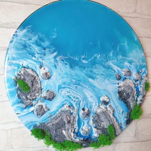 Картина море со скалами