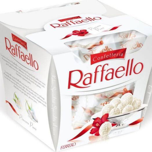 Raffaello candies with whole almonds