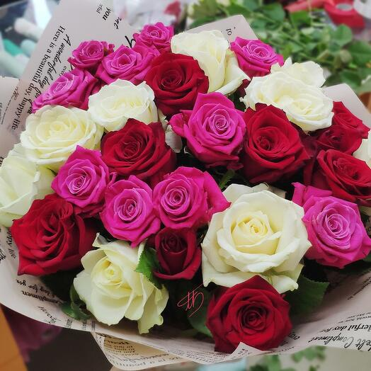 Розы Яркий микс