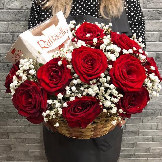 Корзина с цветами 0765