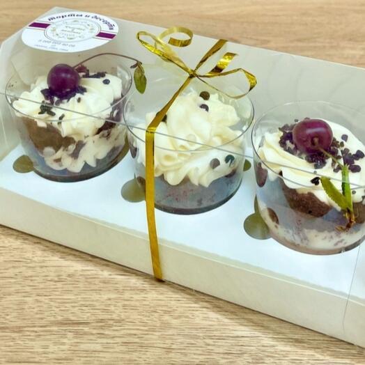 """Десерт в стаканчике- Трайфл 1 Набор (3 стаканчика) """"Вкусняшка"""""""