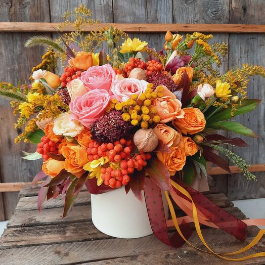 """Цветы в коробке """"Моя осень"""""""