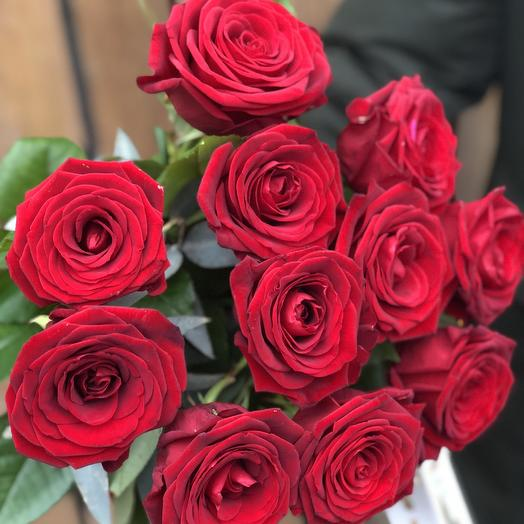 Букет из 11 красных роз 80 см: букеты цветов на заказ Flowwow
