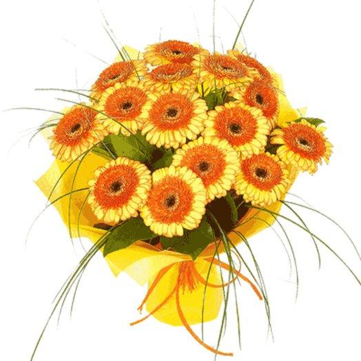15 гербер с оформлением: букеты цветов на заказ Flowwow