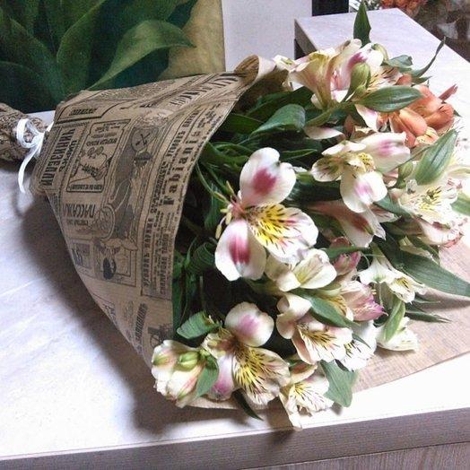 Букет из 11 белых альстромерий: букеты цветов на заказ Flowwow