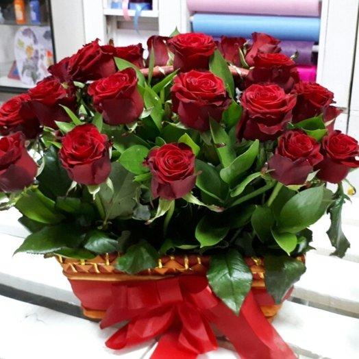 Корзина ''Роза'': букеты цветов на заказ Flowwow