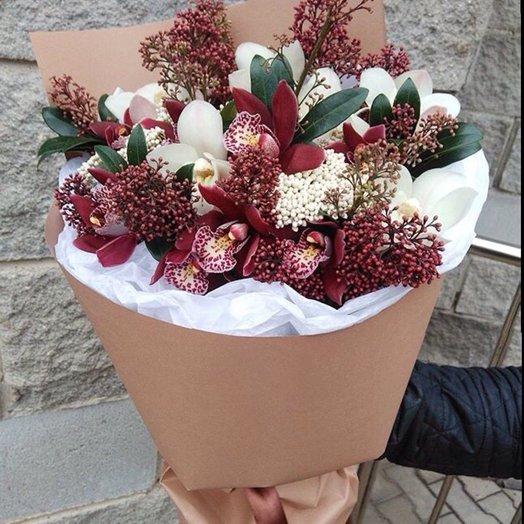 Зимняя классика: букеты цветов на заказ Flowwow